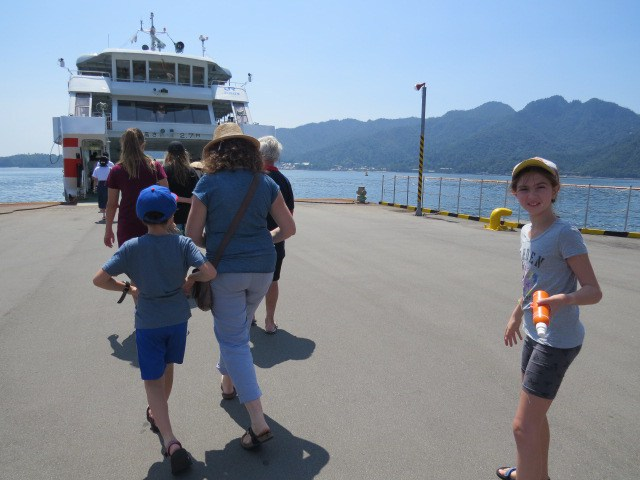 the ferry from Hiroshima to Miyajima